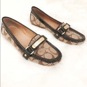 Coach Felisha Monogram Flats Loafers
